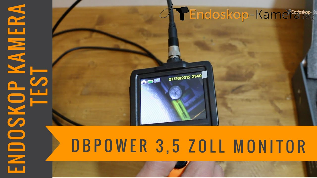 dbpower endoskop kamera 3 5 zoll monitor test youtube. Black Bedroom Furniture Sets. Home Design Ideas