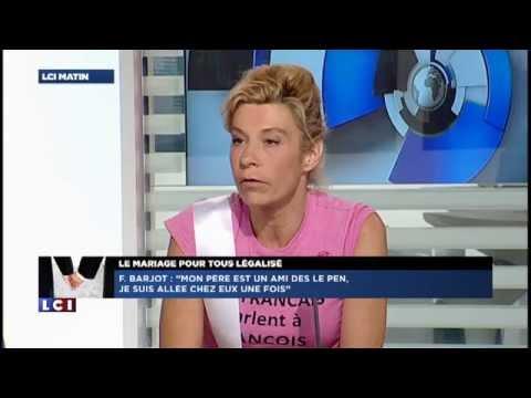 Interview de Frigide Barjot au lendemain du vote Mariage Pour Tous (24/04/13, LCI)