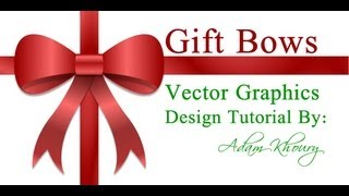 Christmas Gift Bow Design Tutorial Vector Graphics Xmas Presents Adobe Fireworks