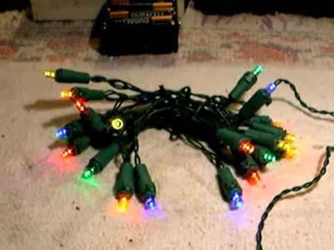 led christmas lights tweaking youtube