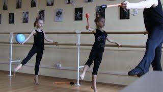 Урок хореографии для гимнасток-художниц.Ч.II