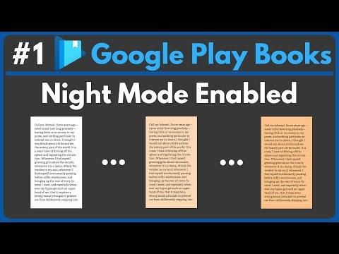 Google Play Books • Night Mode