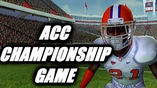ACC CHAMPIONSHIP GAME - NCAA FOOTBALL 11 PS2 ROAD TO GLORY EP18
