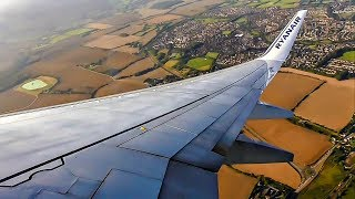 Ryanair Boeing 737-800 AFTERNOON TAKEOFF from London Stansted Airport (STN)