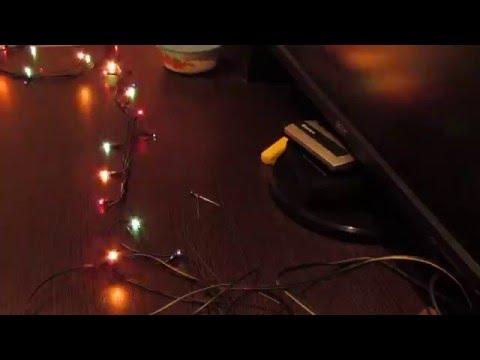 Как узнать какая лампочка перегорела в гирлянде! как починить китайскую елочную гирлянду!