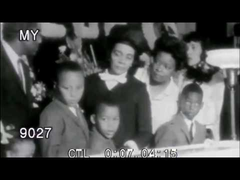 1968 Martin Luther King Assassination, Funeral, Robert Kennedy speaks Stock Footage HD
