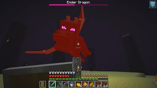 I FIGHT THE ENDER DRAGON ON HARDCORE MINECRAFT (my first time ever)