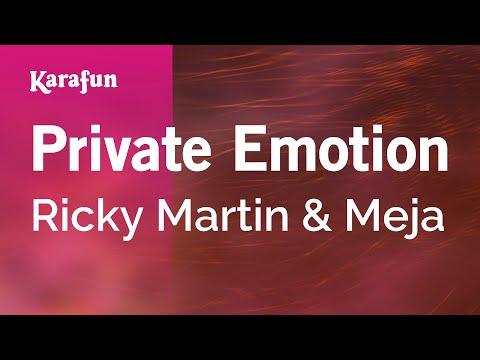 Karaoke Private Emotion - Ricky Martin *
