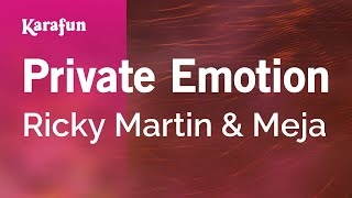 Karaoke Private Emotion - Ricky Martin *