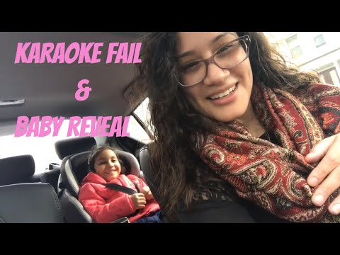 Karaoke and baby reveal fail