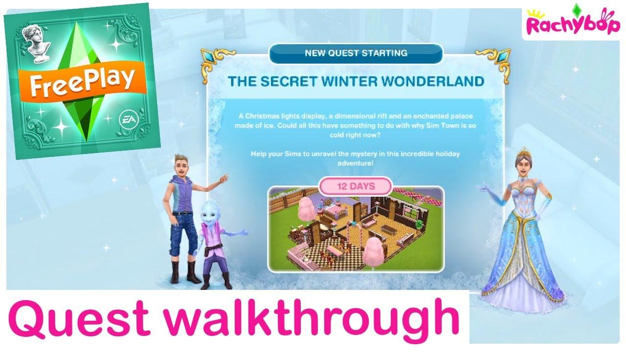 Sims Freeplay Christmas 2020 The Sims Freeplay Secret Winter Wonderland Quest Walkthrough 2020