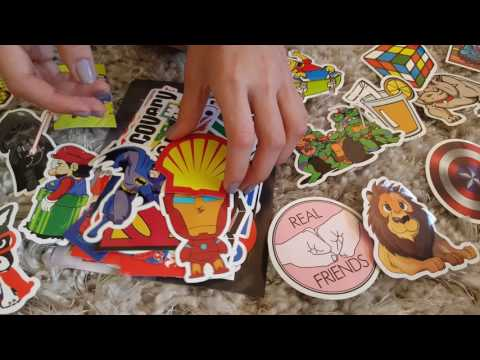 Unboxing of Amazon 100 Pack of Decal Sticker Packs