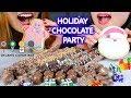 ASMR HOLIDAY CHOCOLATE PARTY 초콜릿 리얼사운드 먹방 チョコレートcoklat | Kim&Liz ASMR