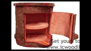 Icwoodllc.com / Hollow Logs How Do They Do That? Simple Log Furniture