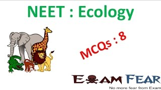 NEET Biology Ecology : Multiple Choice Previous Years Questions MCQs 8