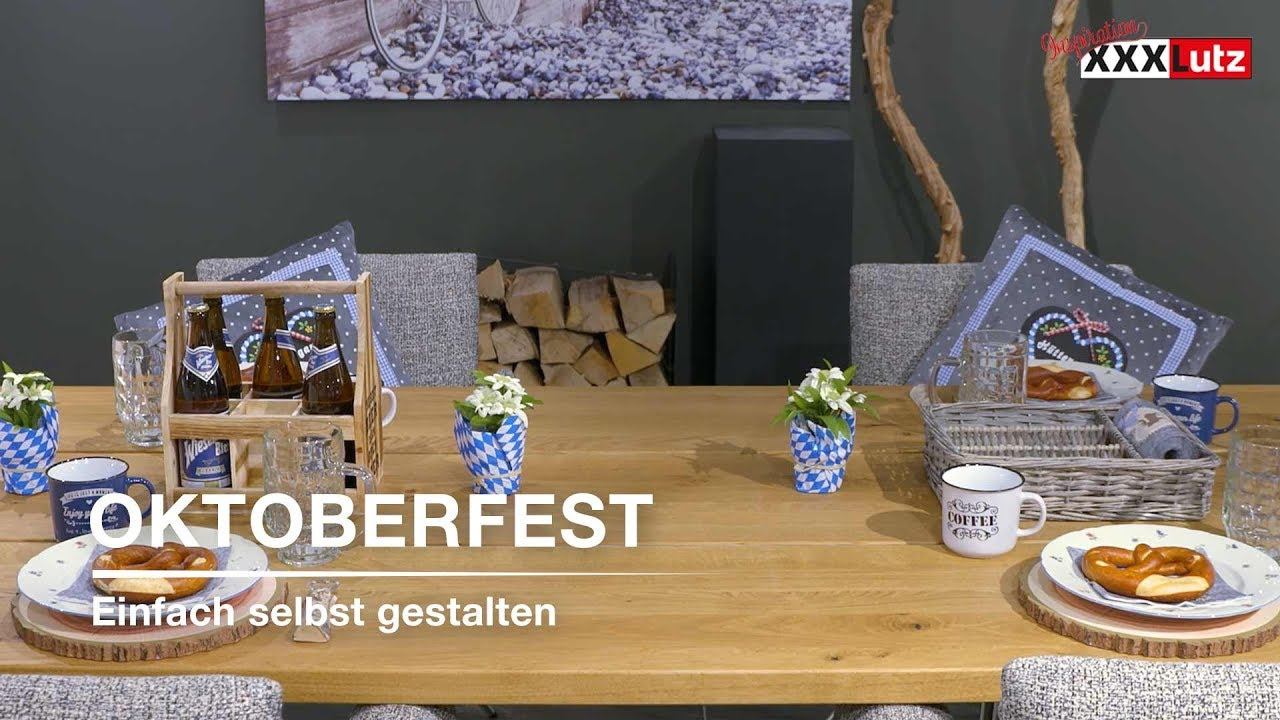 oktoberfest tischdeko selber machen xxxlutz youtube. Black Bedroom Furniture Sets. Home Design Ideas