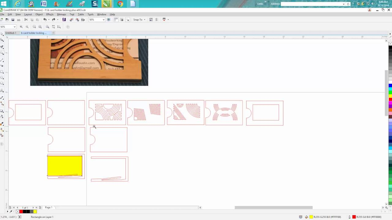 Coreldraw visiting card - Corel Draw Tips Tricks Making A Business Card Holder That Will Hold The Cards Part 2 Youtube