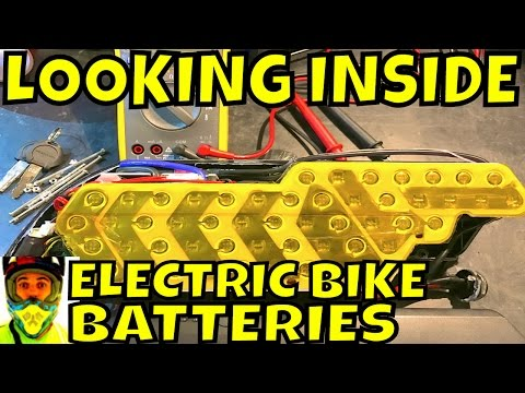 Looking inside the most popular Electric Bike Batteries (different brands, sizes and shapes)