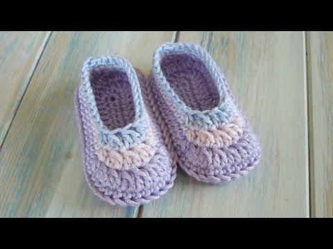 (crochet) How To Crochet Simple Baby Booties - Yarn Scrap Friday