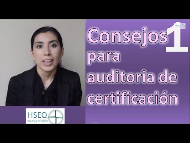 Consejos para auditoria de certificación