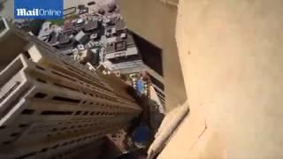 Бляха муха Очень опасные прыжки на 43 м этаже здания в Дубае