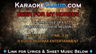 Willie Nelson & Toby Keith - Beer For My Horses (Backing Track)