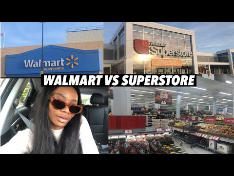 Grocery Shopping In Canada | Comparing Grocery Prices In Walmart And Superstore | Vlog
