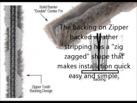 How To Install Zipper Backed Weather Stripping In Sliding