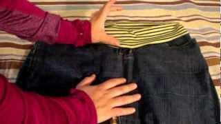 Como Convertir Un Pantalon Normal En Un Pantalon Para El Embarazo La Receta De La Abuelita Youtube