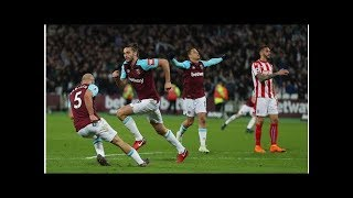 West Ham United 1-1 Stoke City: Andy Carroll's wonderful volley cancels out Peter Crouch's strike...