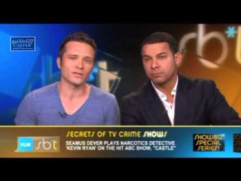 "Jon Huertas & Seamus Dever Showbiz Tonight Interview w/ Castle 6x01 Sneak Peek #3 ""Valkyrie"""