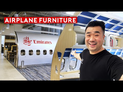 Turning Airplane Parts Into Art, Collectible And Hollywood Movie Studio