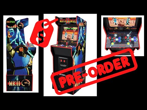 Arcade1up Midway Legacy Cabinet Revealed!!  Price, pre-order, Mortal Kombat!! from 19kfox