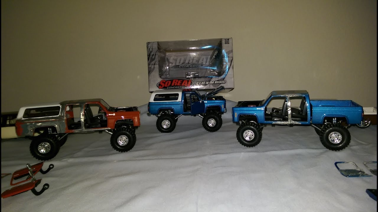 Chevy trucks 1/24 scale So Real Concepts custom - YouTube