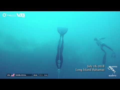 Big Island television Interview for US national record freedive to 102m/335ft by Daniel Koval