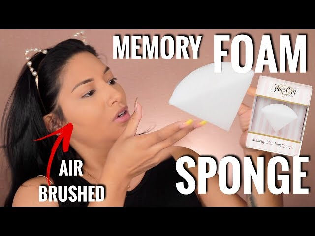 CRAZY MEMORY FOAM BEAUTY SPONGE! AIR BRUSHED SKIN!