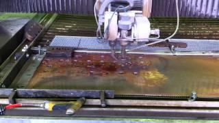 Гидроабразивная резка меди 2 мм(, 2014-03-28T02:31:18.000Z)
