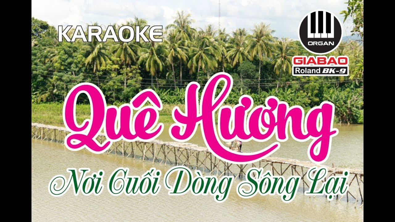 Quê Hương Nơi Cuối Dòng Sông Lại, Karaoke - Hát về Hoài Mỹ - Hoài Nhơn