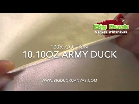 10.10oz Army Duck Canvas Fabric from Big Duck Canvas