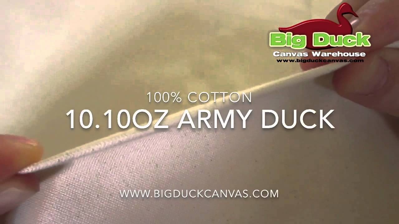 10 10oz Army Duck Canvas Fabric from Big Duck Canvas
