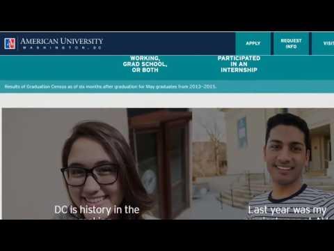 American University Washington D C 2016 2017