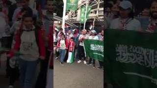 رياضة  بالفيديو.. جماهير السعودية تساند الإمارات أمام أستراليا