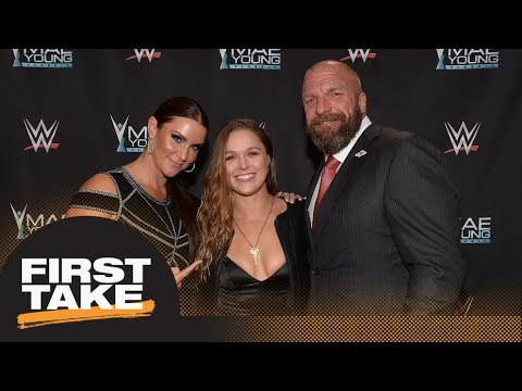 Stephen A. Smith says Ronda Rousey's fight career is over after joining WWE | First Take | ESPN