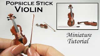 DIY Miniature Violin 🎻