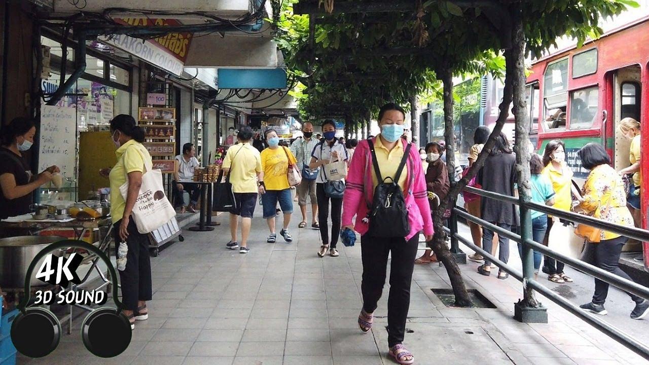 [4K] Walking the Streets around Pratunam in Bangkok Thailand