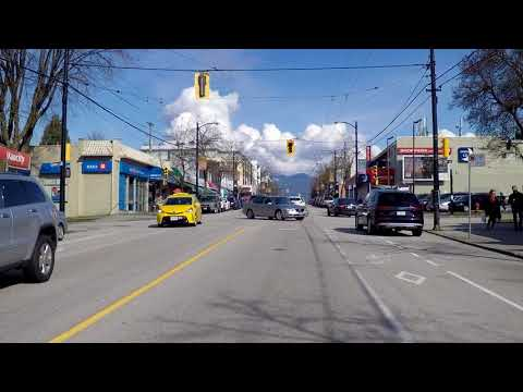 Life in VANCOUVER BC Canada - Driving Around DUNBAR Street - Residential Area / West Side Houses