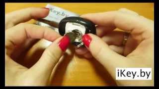 Замена батарейки в ключе СААБ 9-3, 9-5 Change the battery