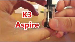 Atomisuer K3 Aspire Fr - tirage sérré MTL débutants cigarette électronique et avancés  test et tuto