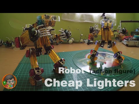 How To Make Robot Action Figure Out Of Cheap Lighters