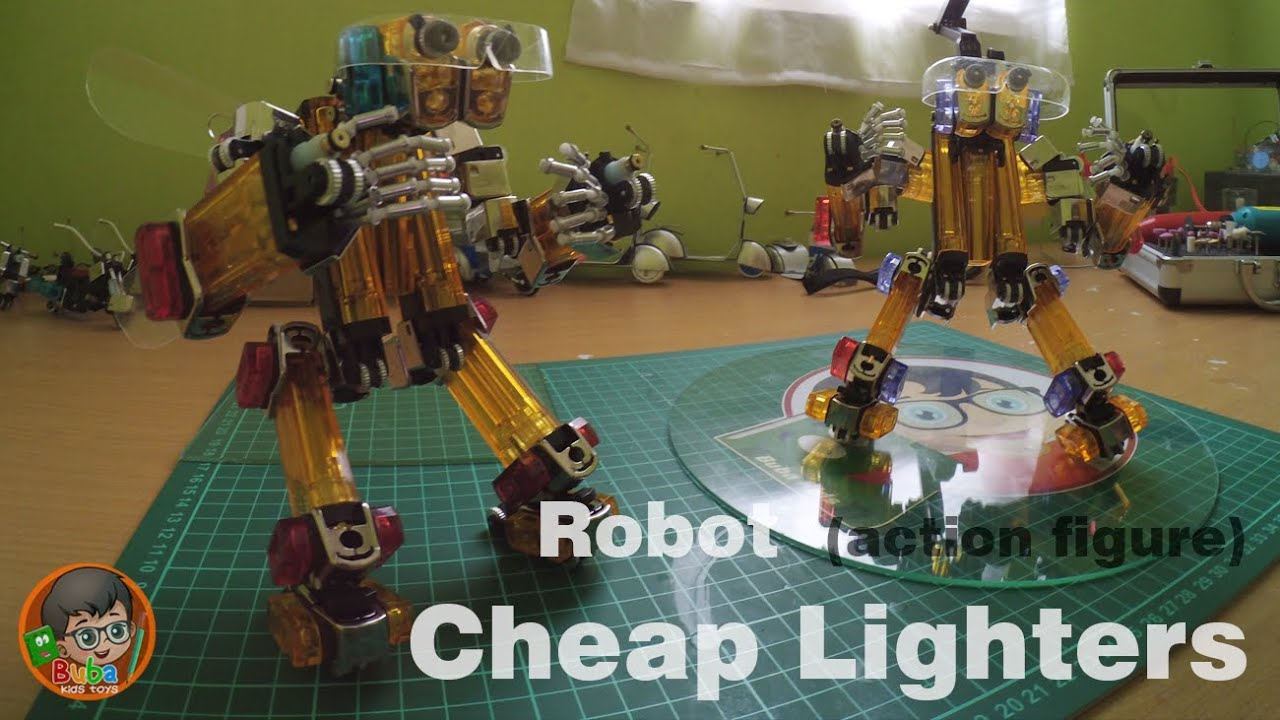 How To Make A Robot (Action Figure) Out Of Cheap Lighters ...